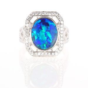 Opal Rings in Silver