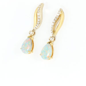 Opal Earrings in Gold