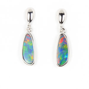 Opal Earrings in Silver