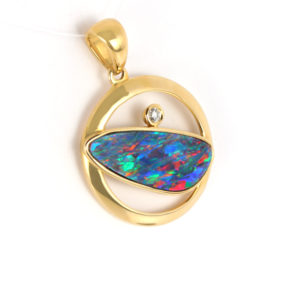 Opal Pendants in Gold